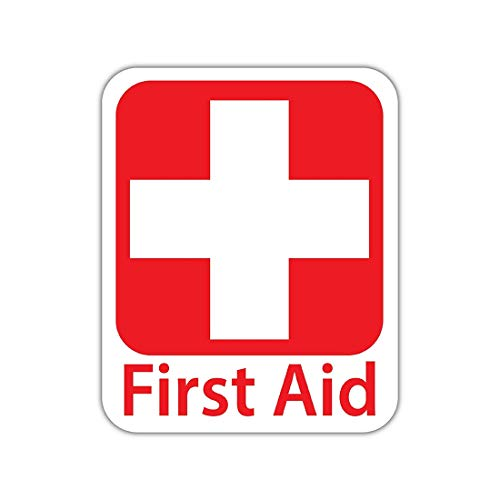 "Bargain Max Decals - Emergency First Aid Kit Safety Sign - Sticker Decal Notebook Car Laptop 4"" x 5"" (Color)"