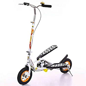 Anchor1 Inflatable Rubber Wheel Teens Pedal Scooter Foldable Exercise Stepper Scooter Bike for Youngsters White Color Youth Kick Scooter for Children/Adult