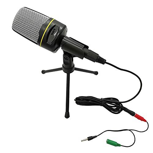 Micrófono para PC, iMeshbean, micrófono condensador profesional, Plug & Play, micrófono de escritorio con trípode para PC, podcast, juegos, radiodifusión, streaming, conferencias