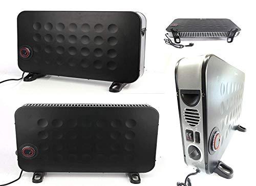 Verwarmingskachel, verwarmingsconvector, elektrische kachel met max. Verwarmingsvermogen: 2000 watt. 3 instelbare warmtestanden 750 watt, 1250 watt en 2000 watt. Draaischakelaar instelbare thermostaat.