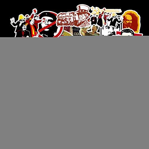 ZXXC 50 Uds Rusia Segunda Guerra Mundial Maleta con Ruedas Maleta Coche monopatín Dibujos Animados Viaje Aventura Pegatina Impermeable