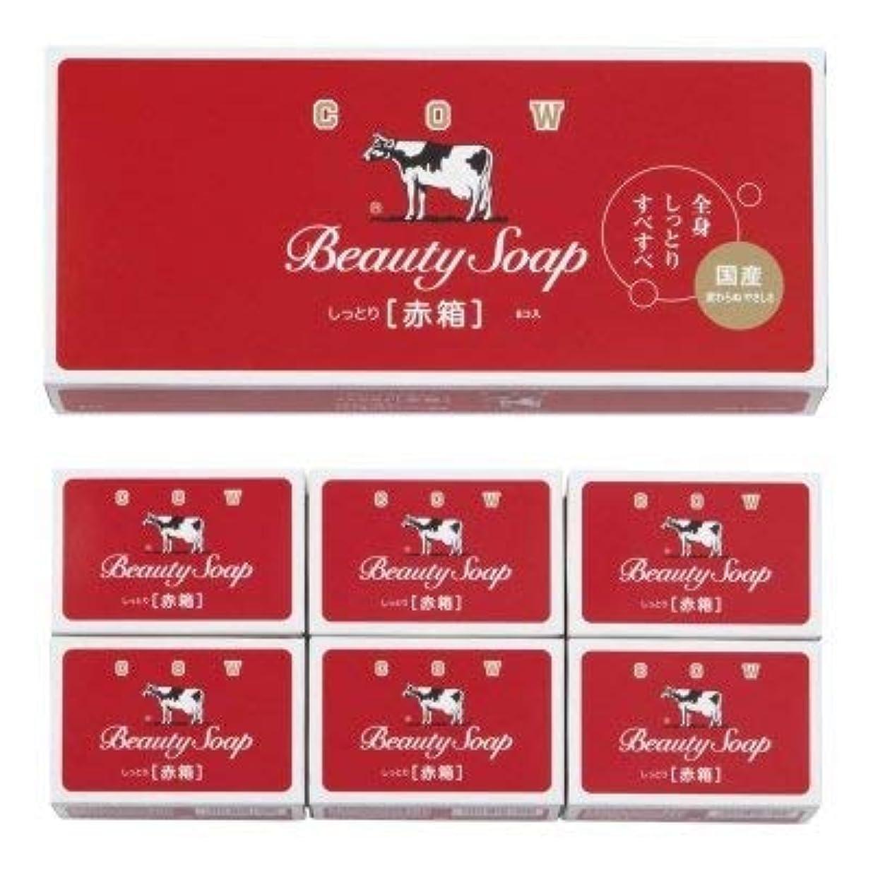 引くカニエンドウ【国産】牛乳石鹸 カウブランド 赤箱6コ入 (12個1セット)
