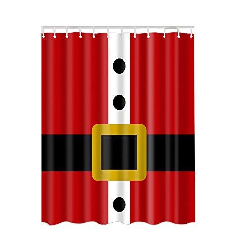 Ochine Christmas Shower Curtain 180180cm 3D Print Bathroom Set Fabric Shower Curtain Santa Claus Holiday Presents Christmas Tree Reindeer Custom