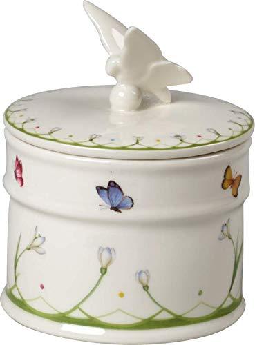 Villeroy & Boch Colourful Spring Dose, 14 cm, Porzellan, Weiß/Bunt