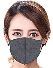 Fashion Reusable Unisex headband Waterproof fabric-mask Anti Pollution dust Adults Face-mask (Dark Gray)