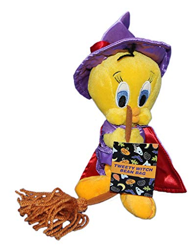 Warner Bros Studio Store 8' Plush Tweety Bird Witch Bean Bag Doll