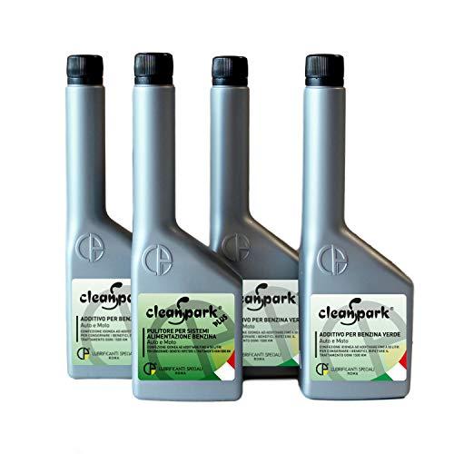 500 ML - KIT DE TRATAMIENTO REGENERADOR GASOLINA (moto y coche) Aditivo para la preparación de la revisión, 1 botella (125ml) CLEANSPARK PLUS + 3 botellas (375 ml) CLEANSPARK