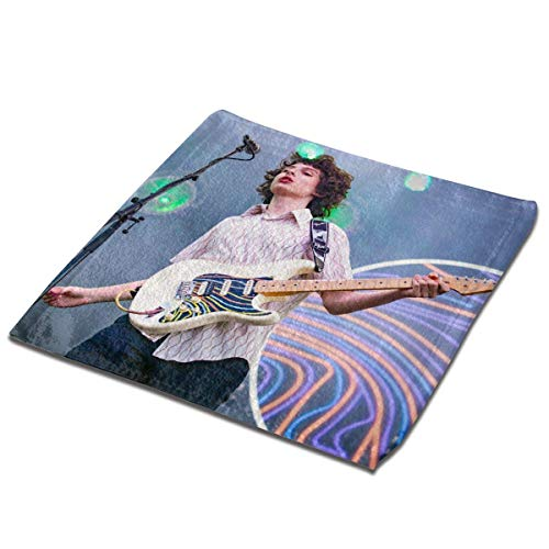 Yuanmeiju Toalla Cuadrada Finn Wolfhard Fashionable Microfiber Square Towel Soft Towel Super Absorbent and Lightweight Face Wash Towel, Hand Towel 13 X 13 Inches