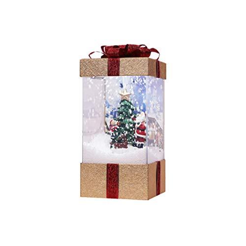 LIOOBO weihnachts weihnachtslaterne ornament musik schneekugel laterne weihnachtskrippe lampendekoration (keine batterie)