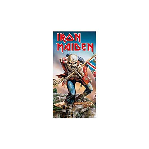 Iron Maiden Toalla de Playa de algodón, Multicolor, 150 x 75 cm