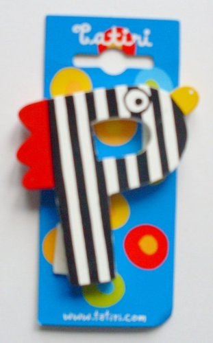 Unbekannt Tatiri 72025 Holzbuchstabe Crazy Bird - P, 7 cm