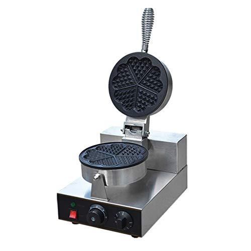 JDKC- Gaufrier Gaufrier Machine à Gaufres Antiadhésives en Forme de Coeur Grille-Pain Sandwich à Contrôle de Température Réglable Waffle Maker