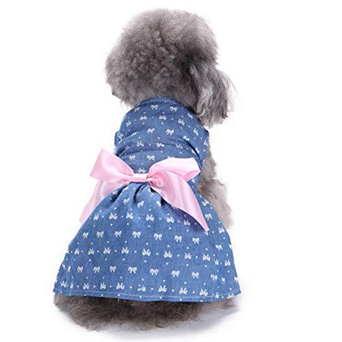 MUXIAND Puppy Dot Kleding Klein Huisdier Hond Kleding voor Meisjes Zomer Mouwloos Rok Jurk Hond Kleding Voor Honden, XL