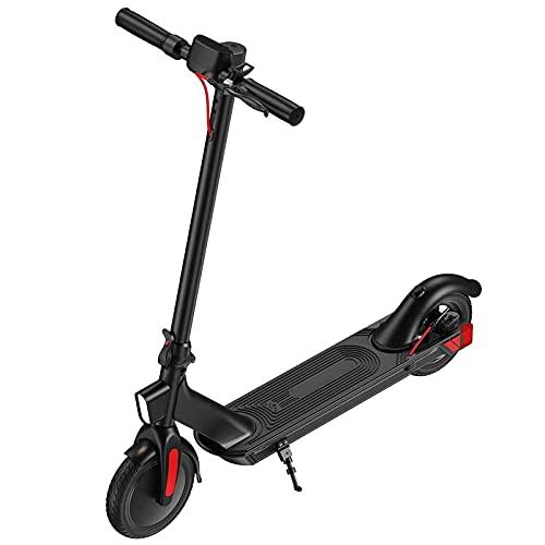 JAJU Scooter Eléctrico para Adultos, Patinete Eléctrico Plegable Portátil con Velocidad de 25 Km/h, Neumáticos de Goma Maciza de 8.5 Pulgadas, Patinete Eléctrico con Asiento.