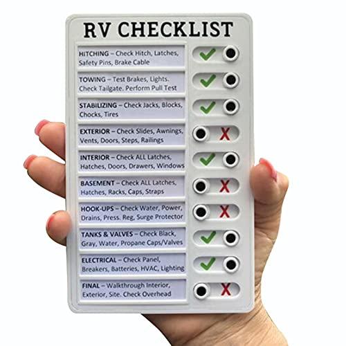 Beifeng Tablero portátil de la nota de la lista de verificación de RV extraíble reutilizable creativo para el hogar Camping viajes