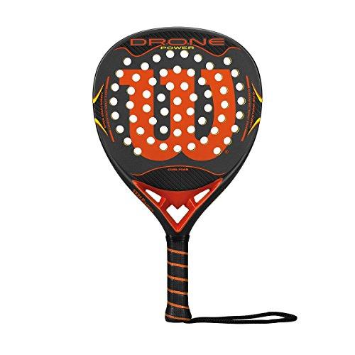 Wilson Erwachsene Paddleschläger Drone Power RKT Gyor Padelschläger, Schwarz/Orange/Grau, One Size