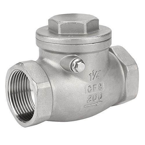 Válvula de retención de acero inoxidable sin retorno 200PSI DN32 para sistema de fluido para sistema neumático