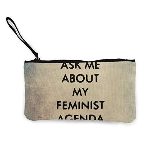 BHGYT Pregúntame Acerca de mi Agenda Feminista Mujeres Niñas Monedero para Hombre...