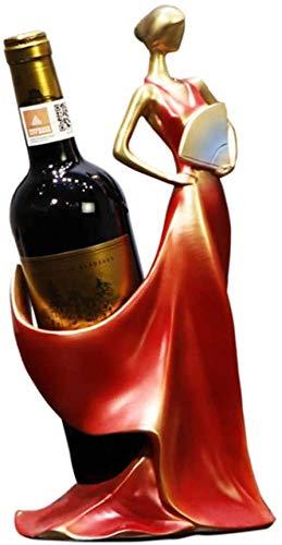 Soporte para botellas de resina de componentes de muebles para botellas de vino, soporte para botellas de resina, respetuoso con el medio ambiente, soporte para botellas de regalo para el hogar