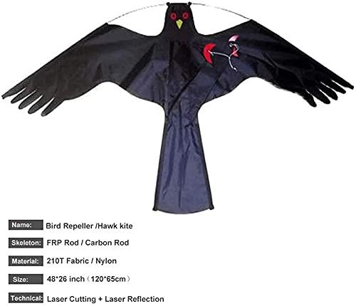 ZHIRCEKE 5-7M Defender Hawk Kites, Distribuidor de Aves Volando A Pájaro Halcón Aperador Dragón con Barra Telescópica 4M Entregador de Pájaro Al Aire Libre, Pájaros Repelente Kite Simulada