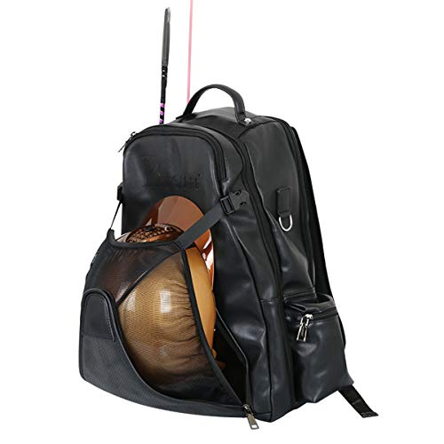 UNISTRENGH Professional Equestrian Backpack with Concealed Mesh Helmet...