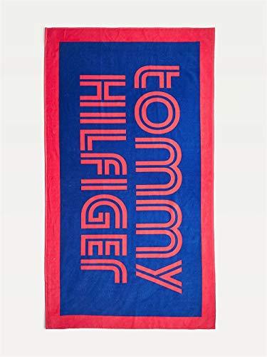 Tommy Hilfiger Toalla de mar o Esponja de Piscina o SPA cm.180x100 artículo UU0UU00038 Towel, C65 Cobalt, Unica - One Size