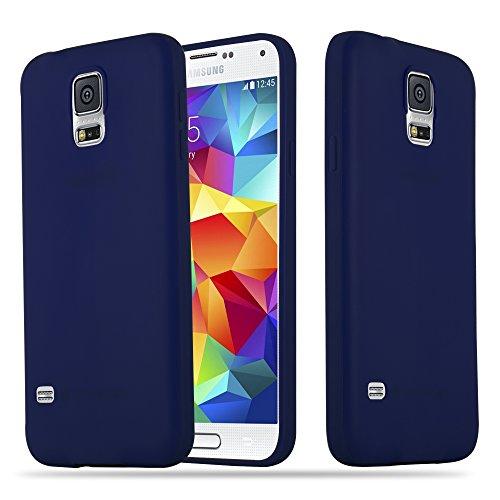 Cadorabo Hülle für Samsung Galaxy S5 / S5 NEO in Candy DUNKEL BLAU - Handyhülle aus flexiblem TPU Silikon - Silikonhülle Schutzhülle Ultra Slim Soft Back Cover Case Bumper