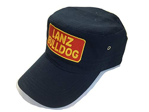 Capshop.de Lanz Bulldog Cap in marineblauem Military-Style Bestickt mit Lanz-Bulldog Logo