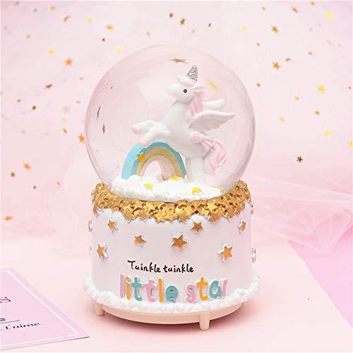 MornBee Schneekugel Geschenk Musikalische Schneekugel für Kinder Mädchen (A)