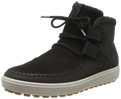 Ecco Damen Soft 7 TRED W Hohe Sneaker, Schwarz (Black/Black 51052), 40 EU