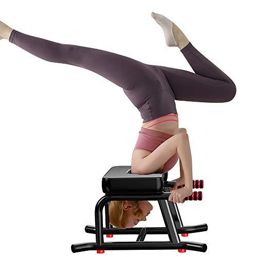 Beaspire Yoga Kopfstandhocker, Stabiler Yoga Kopfstandstuhl mit PU-Kissen und...