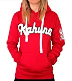 Sudadera surfera para Hombre y Mujer con Capucha Kahuna Store Screenprinting Red Hoodie Premium Roja Monkey Style, Unisex, para Hombre y Mujer, Skate Wear and Snowboard (m)