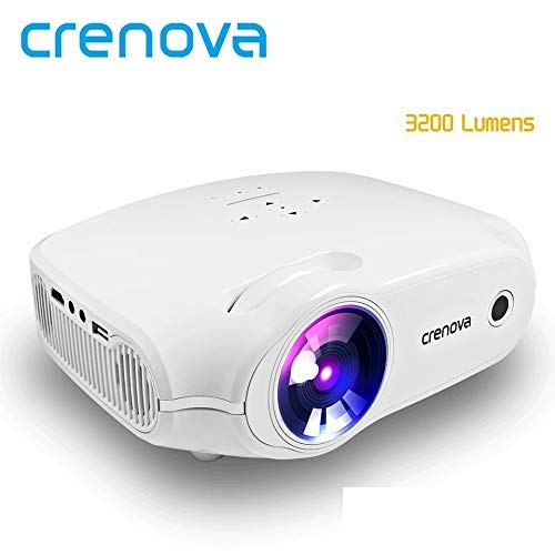 CRENOVA - Proyector Full HD para cine en casa con HDMI VGA USB AV SD Android 7.1.2 OS