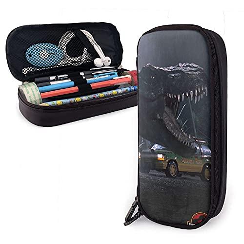 Jurassic Park - Estuche de piel para lápices, bolsa de papelería, oficina, portátil, caja de almacenamiento para cosméticos