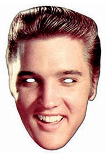 empireposter Elvis Presley Rock and Roll Pappmaske aus hochwertigem Glanzkarton mit Augenlöchern, Gummiband - Größe ca. 30x20 cm