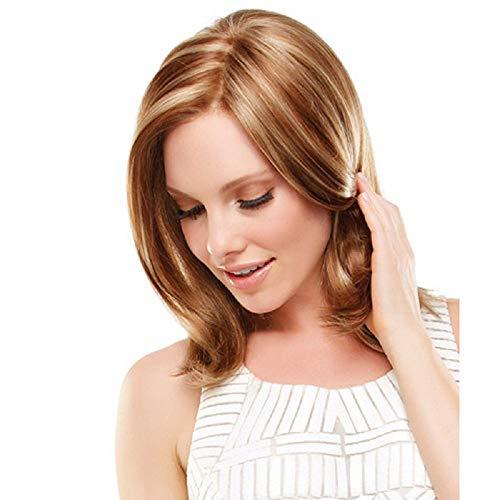 YUHUA Peluca Europea y Americana de Pelo Corto para Mujer, Sombrero de Fibra Química Degradado de Moda de Pelo Rizado Mullido