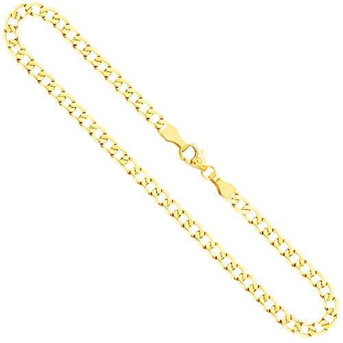 Collana modello Grumetta larga Uomo in oro giallo,14 carati 585, largh. 3,9 mm, p. 9.6 g, lungh. 50 cm, con chiusura ad aragosta, marchio di garanzia made in Germany