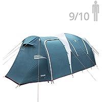 NTK Tienda de Campaña Resistente 100% Impermeable para 9 a 10 Personas (2 Habitaciones) Acampada al Aire Libre y Senderismo Tamaño Familiar 530 x 245 x 205 cm - Arizona GT 9/10