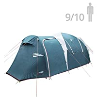 Arizona GT 9 to 10 Person 17.4 by 8 Foot Sport Camping Tent 100% Waterproof 2500mm Tent by NTK