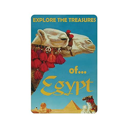 Poster in latta con cammello in Egitto, bar, discoteca, pub, decorazione da parete
