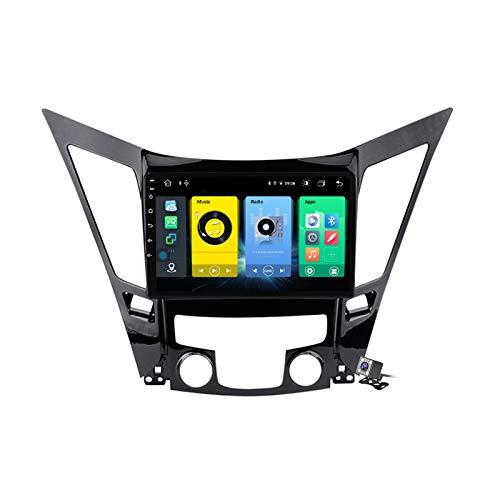 Gokiu Android 9.1 GPS Navigation Stereo Radio para Hyundai Sonata i40 i45 2011-2015, 9' Pantalla Coche Media Player Soporte Carpaly/5G FM RDS/Control Volante/Bluetooth Hands-Free,7862: 6+128