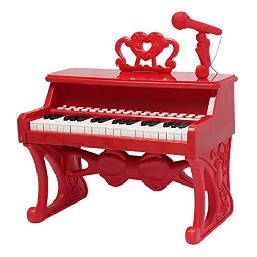 Piano vertical para niños Piano de juguete para niños Piano Juguete por 1 ~ 4 años de edad Instrumento musical electrónico con micrófono Piano de piano Teclado de juguete para niños pequeños Piano de