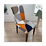 Cubierta de silla impresa Cubierta del estiramiento de la silla suave Cubierta de silla de comedor extraíble para comedor Muebles de cocina Boda Banquete Hotel ( Color : 3 , Talla : Universal size )