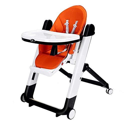 SOAR Seggiolone Pappa Seggiolone for Bambini, seggiolino for Bambini, Sala da Pranzo Sedia da Tavolo, Pieghevole, Multifunzionale (Color : Orange)