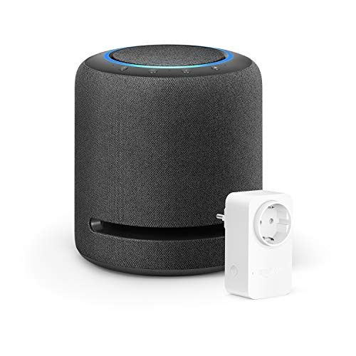 Echo Studio + Amazon Smart Plug (WLAN-Steckdose), Funktionert mit Alexa