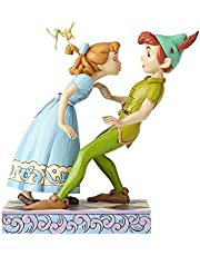 """Enesco Disney Traditions by Jim Shore 65th Anniversary Peter Pan and Wendy Stone Resin, 7.6"""" Figurine, 7.6 Inches, Multicolor"""