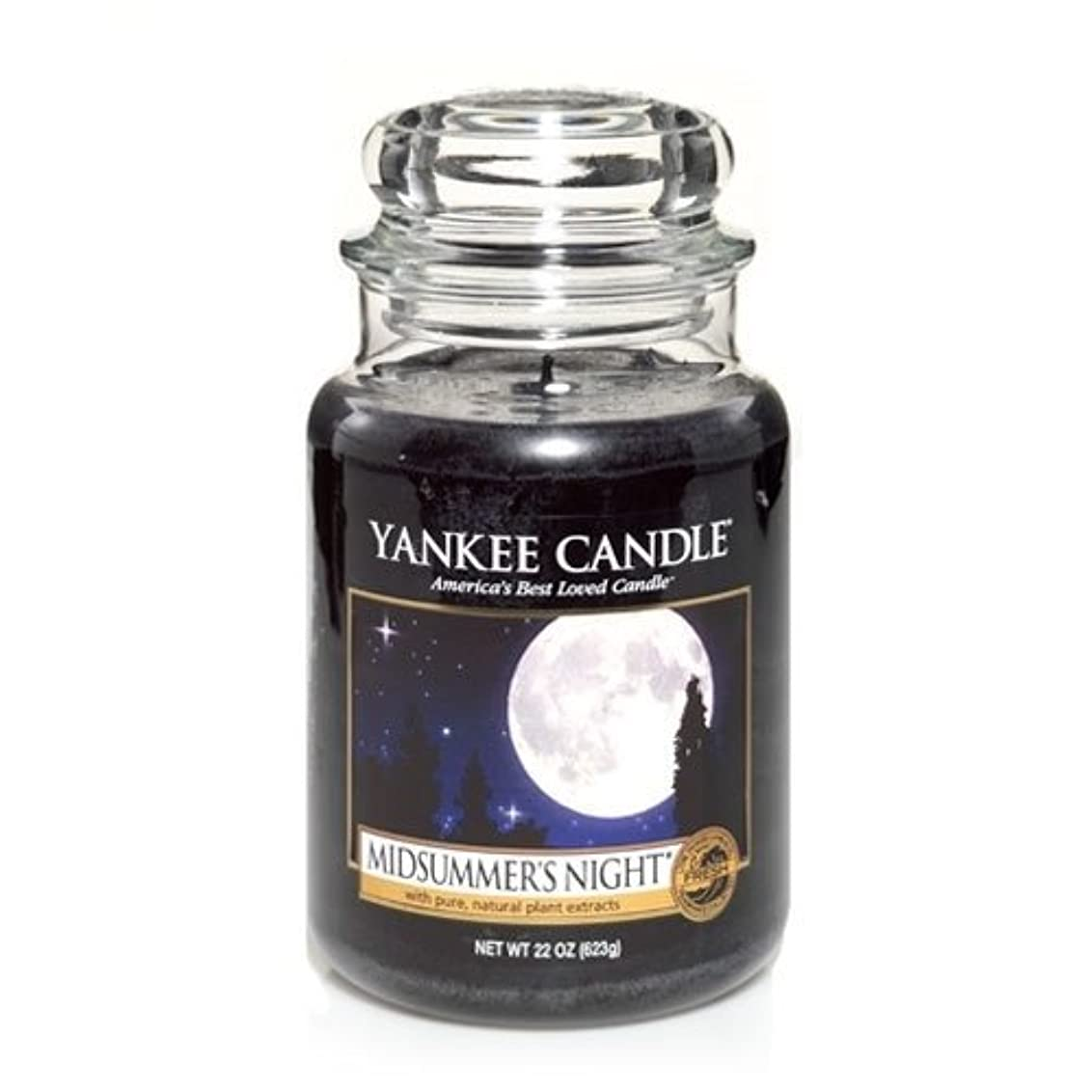 チップ不足灰Yankee Candle Midsummer's Night Large Jar Candle, Fresh Scent by Yankee Candle [並行輸入品]