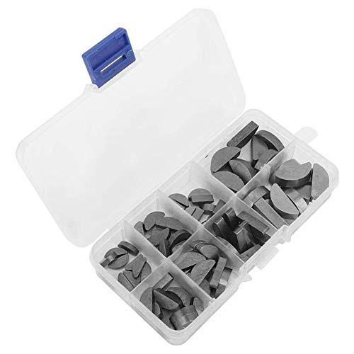 Metall Woodruff Keys Halbkreis Sortiment Box Kit Set Verschiedene Größen 80pcs Industriehandwerkzeug-Zubehör