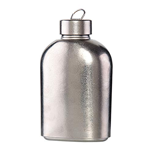 Botella de agua de titanio puro con bolsa de transporte, lig