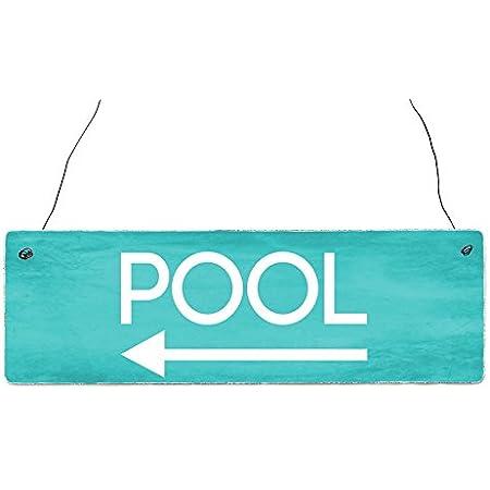 Qidushop Whirlpool Schild Paletten Schild Pool Dekoration Whirlpool Dekoration Antikes